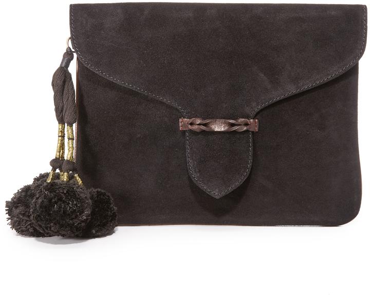 b9150522d9806 ... schwarze Wildleder Clutch von Antik Batik ...