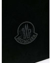schwarze Wildleder Clutch von Moncler