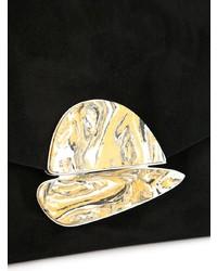 schwarze Wildleder Clutch von Proenza Schouler