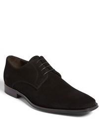 schwarze Wildleder Derby Schuhe