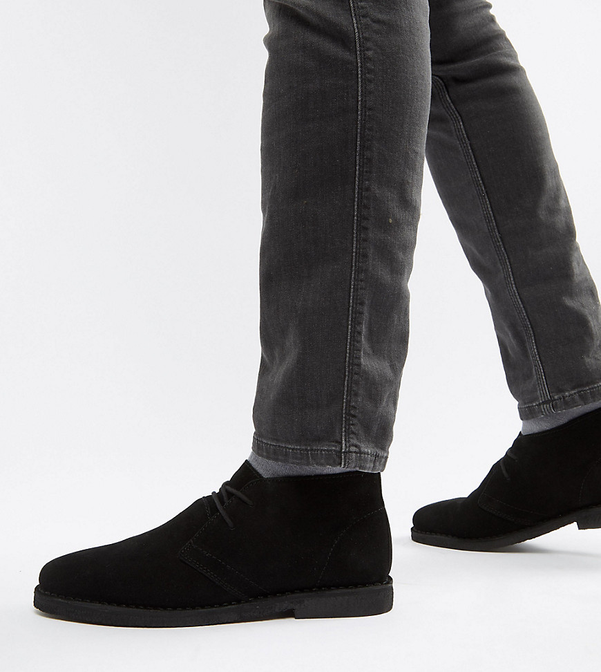 schwarze Wildleder Derby Schuhe von ASOS DESIGN