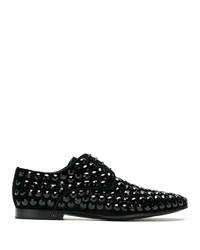 schwarze Wildleder Derby Schuhe von Dolce & Gabbana