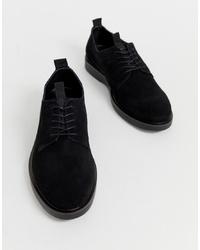 schwarze Wildleder Derby Schuhe von H By Hudson