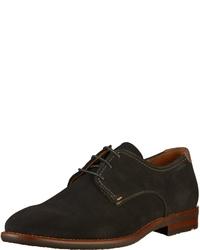 schwarze Wildleder Derby Schuhe von Lloyd