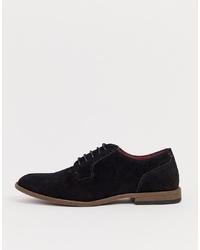 schwarze Wildleder Derby Schuhe von New Look