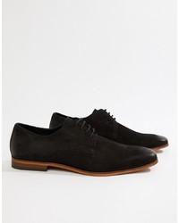 schwarze Wildleder Derby Schuhe von Pier One