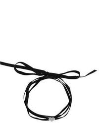 schwarze Wildleder Halskette