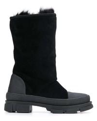 schwarze Wildleder mittelalte Stiefel von Dsquared2