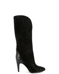 schwarze Wildleder mittelalte Stiefel von Givenchy