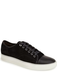 schwarze Wildleder Niedrige Sneakers