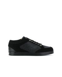 schwarze Wildleder niedrige Sneakers von Jimmy Choo