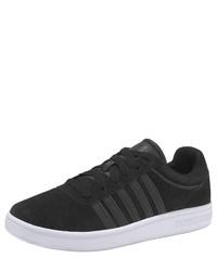 schwarze Wildleder niedrige Sneakers von K-Swiss