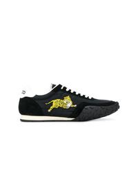 schwarze Wildleder niedrige Sneakers von Kenzo