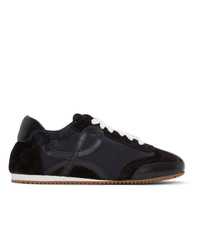 schwarze Wildleder niedrige Sneakers von Loewe