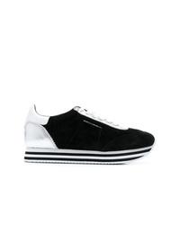 schwarze Wildleder niedrige Sneakers von Rebecca Minkoff