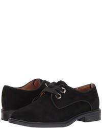 schwarze Wildleder Oxford Schuhe