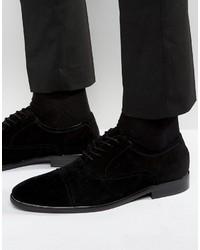 schwarze Wildleder Oxford Schuhe von Aldo