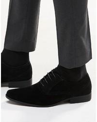 schwarze Wildleder Oxford Schuhe von Asos