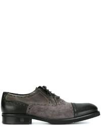 schwarze Wildleder Oxford Schuhe von Baldinini