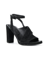 schwarze Wildleder Sandaletten von Del Carlo