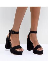 schwarze Wildleder Sandaletten von ASOS DESIGN