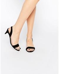 Schwarze Wildleder Sandaletten von Asos