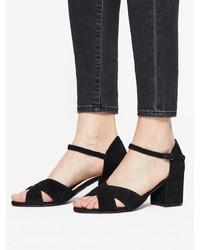 schwarze Wildleder Sandaletten von Bianco