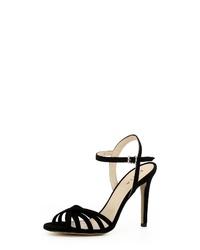 schwarze Wildleder Sandaletten von Evita