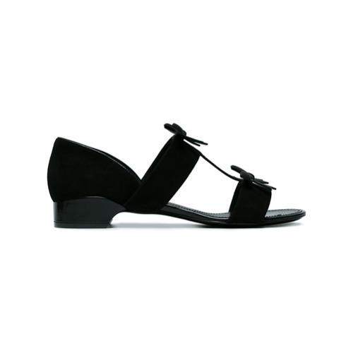 schwarze Wildleder Sandaletten von Fabrizio Viti