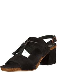 schwarze Wildleder Sandaletten von Fred de la Bretoniere