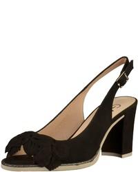 schwarze Wildleder Sandaletten von Gadea