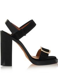 schwarze Wildleder Sandaletten von Givenchy