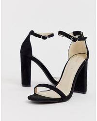 schwarze Wildleder Sandaletten von Glamorous
