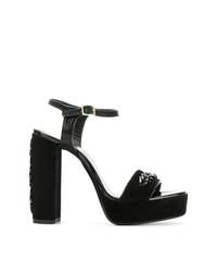 schwarze Wildleder Sandaletten von Lanvin