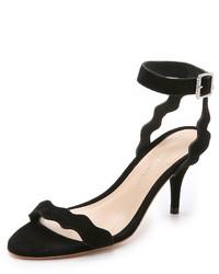 schwarze Wildleder Sandaletten von Loeffler Randall