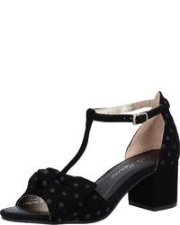schwarze Wildleder Sandaletten von Lola Ramona