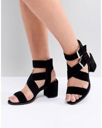 schwarze Wildleder Sandaletten von Office