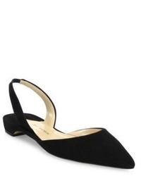 Schwarze Wildleder Sandaletten von Paul Andrew