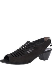 schwarze Wildleder Sandaletten von Paul Green