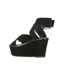 schwarze Wildleder Sandaletten von Barbara Bui