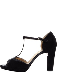 schwarze Wildleder Sandaletten von PoiLei