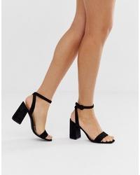 schwarze Wildleder Sandaletten von RAID