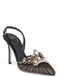 Schwarze Wildleder Sandaletten von Rene Caovilla