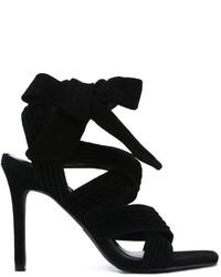 schwarze Wildleder Sandaletten von Senso