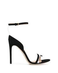 schwarze Wildleder Sandaletten von Sergio Rossi