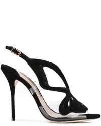 schwarze Wildleder Sandaletten von Sophia Webster