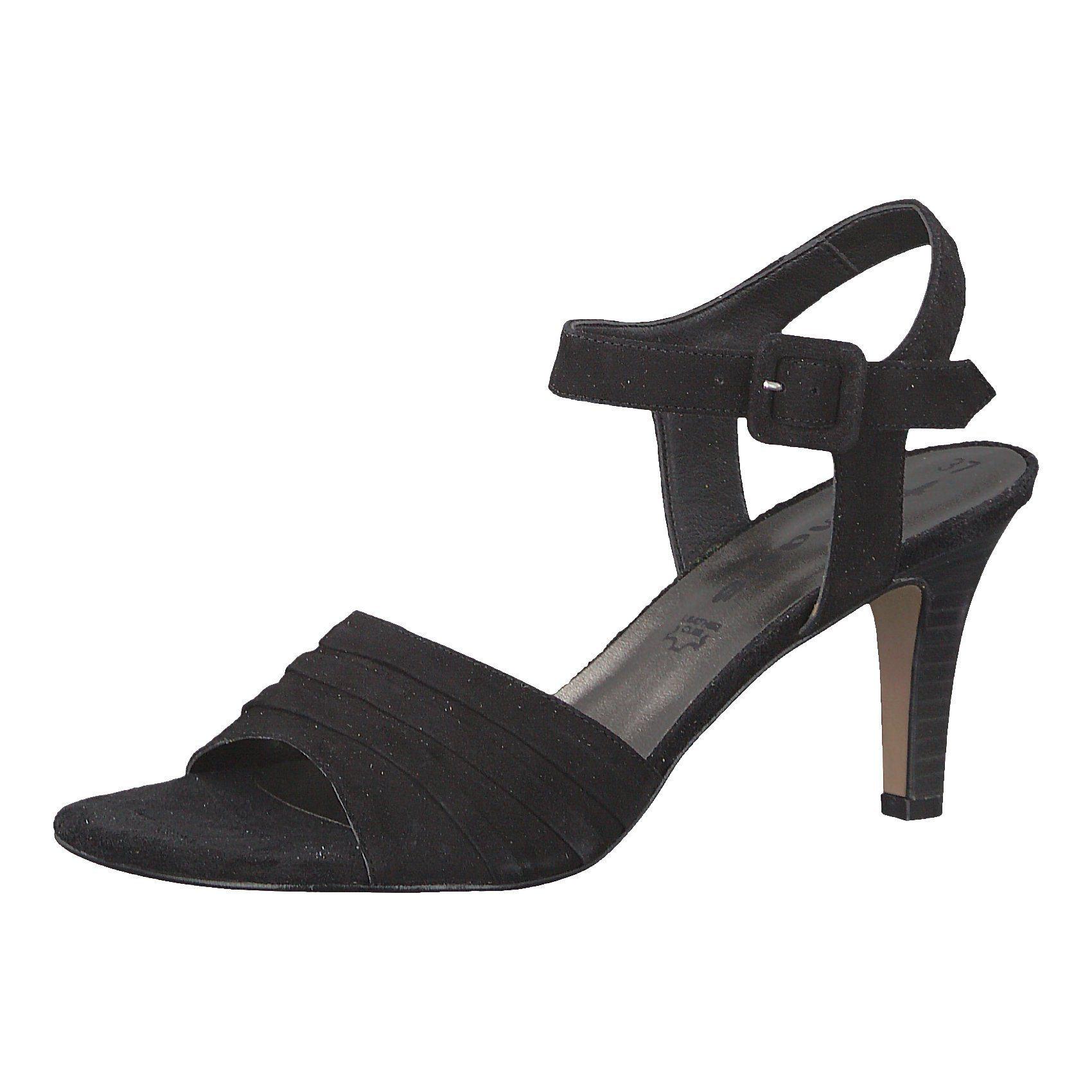schwarze Wildleder Sandaletten von Tamaris