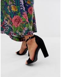 schwarze Wildleder Sandaletten von Ted Baker
