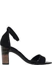 schwarze Wildleder Sandaletten von Veganino