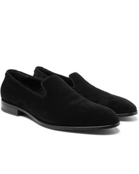 schwarze Wildleder Slipper von The Row